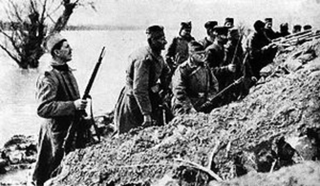 Austria bombs Serbia