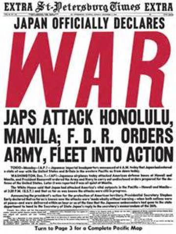Japan declared war on Germany