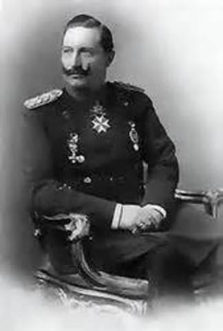 Kaiser William II promised German support for Austria against Serbia
