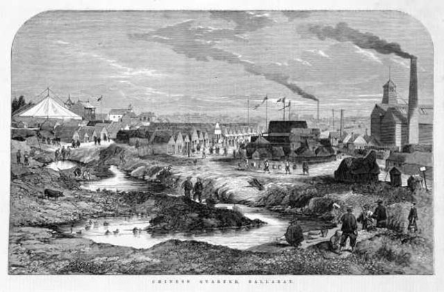 Ballarat gold mines rush