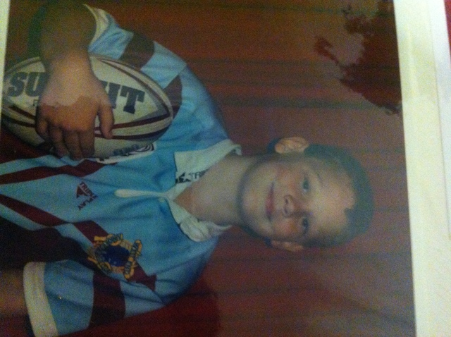 Startted playing rugby league