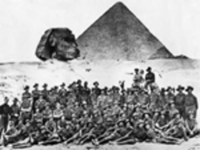 (2) First devision of AIF sailed for Egypt