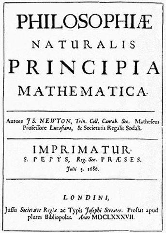 Newton publishes the Principia Mathematica