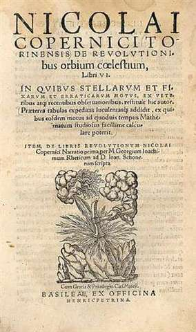 Copernicus publishes heliocentric theory