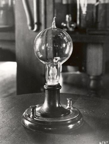 Thomas Edison improves the light bulb