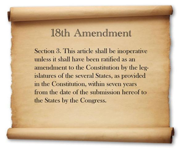 Roaring 20s Great Depression - 18th Amendment