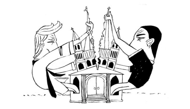 Split of western Christian church