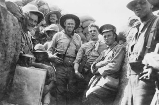 Royal marines landed on Gallipoli