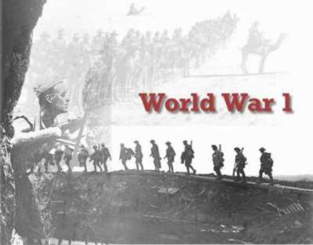 The start of World War 1