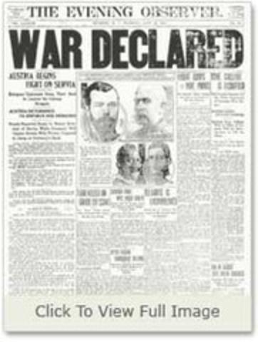 Austria-Hungary declared war on Serbia
