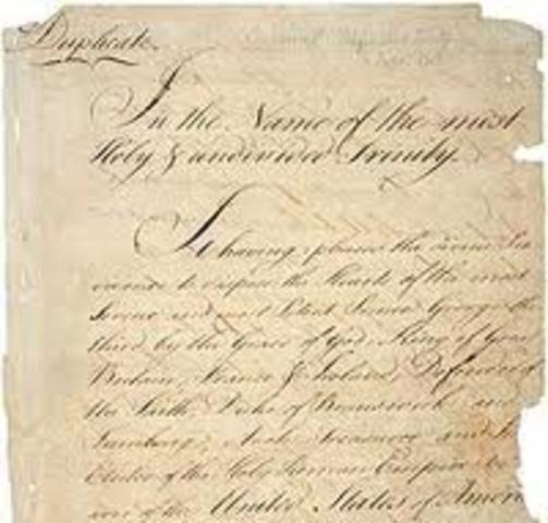 Goal 6 - Treaty of Paris