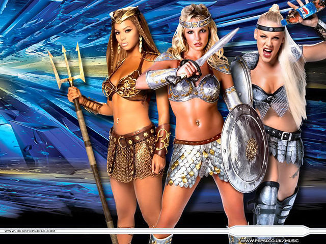 Britney Spears, Pink, Beyonce
