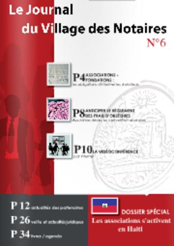 Lancement du Journal du Village des Notaires