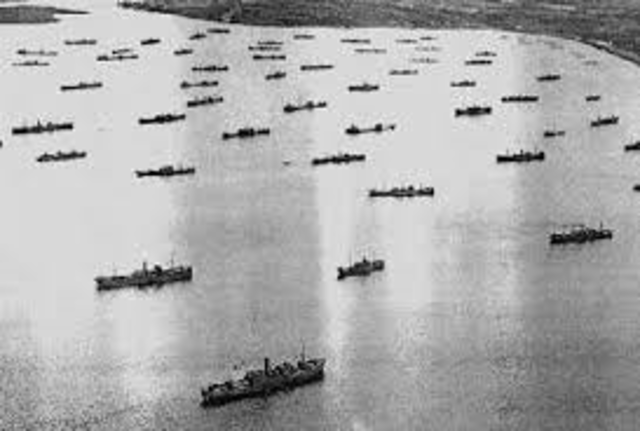 First Convoy of Ships leave for Europe.