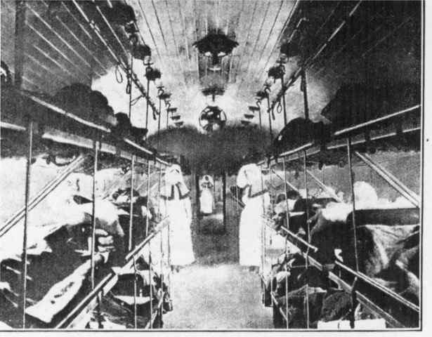 The first hospital ship evacuated