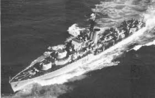 Four destroyers attacked