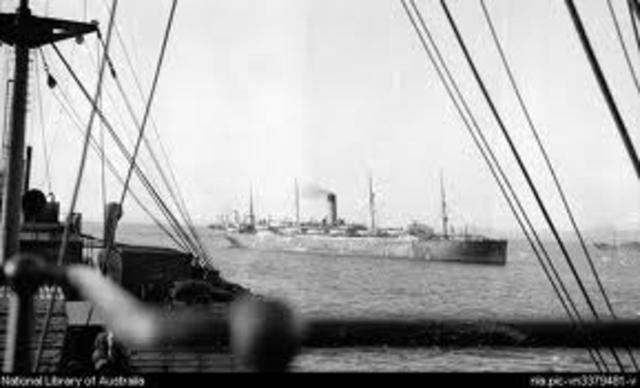 Transport ship attacked