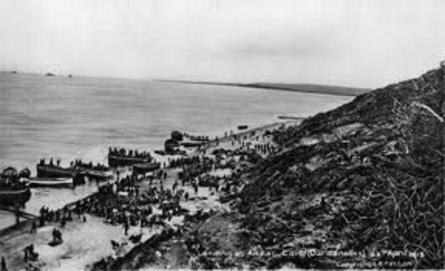 Beginning of evacuation from Gallipoli