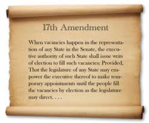 17th Amendment ratified in Massachusetts
