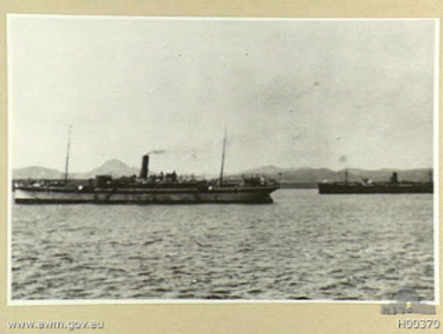 Hospital ship eavacuated (First)