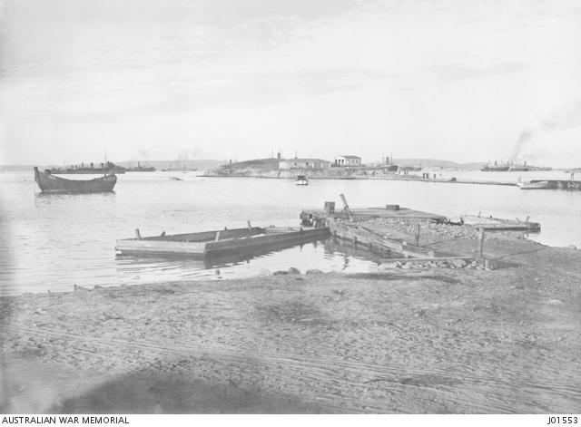 Australian 3rd infantry brigade arrive at lemnos island