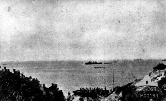Arrival at Gallipoli