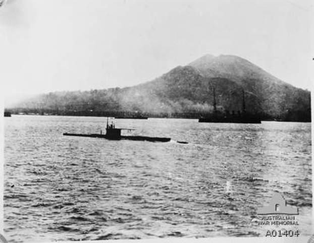 Australian submarine sunk