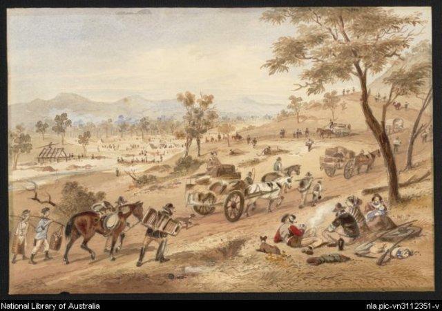 The goldfields in Ballarat, Victoria