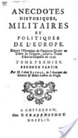 Publication des Anecdotes historiques, militaires et politiques