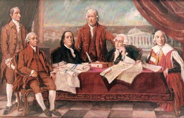 Rencontre avec Benjamin Franklin et John Adams