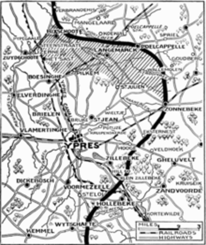 Second Battle of Ypres ends May 15, 1915)