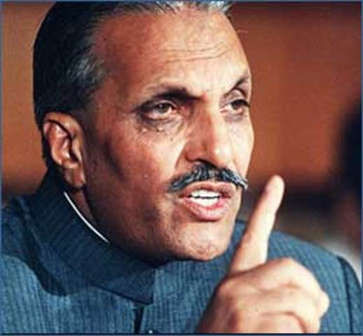 Zia imposed Martial law and Bhutto put into imprisonment