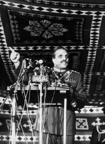 General elections, Zia swon in as President.