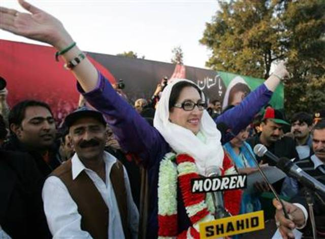Benazir Bhutto wins the general elections
