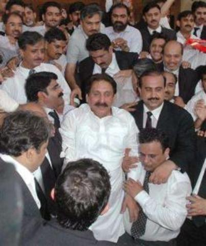 Supreme Court Chief Justice Iftikhar Chaudhry suspended on charges of misconduct