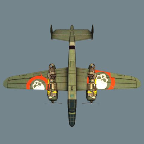NPC中型敌机模型完成