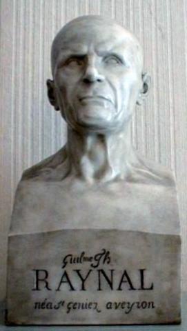 Réalisation du buste de Raynal par Jean-Joseph Espercieux