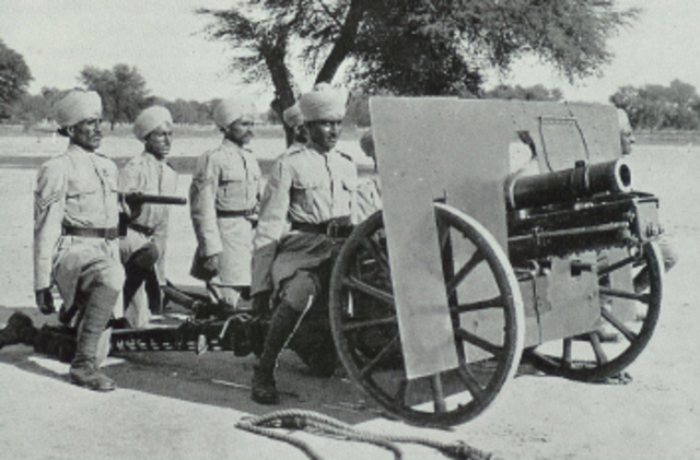 12:00 Indian mountain battery starts firing with only a single gun