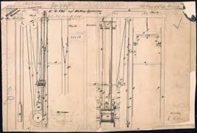 Elisha Otis invents the elevator safety break.