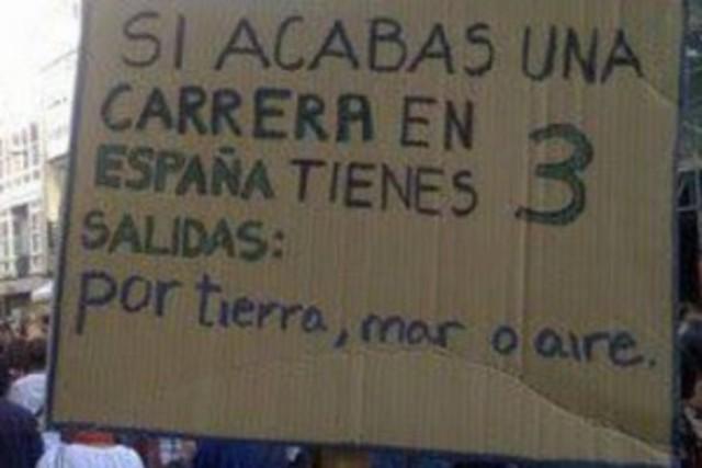 Más de un 50% de paro juvenil en España