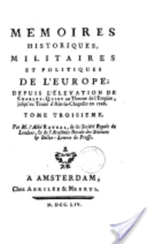 Publication des Mémoires historiques et politiques