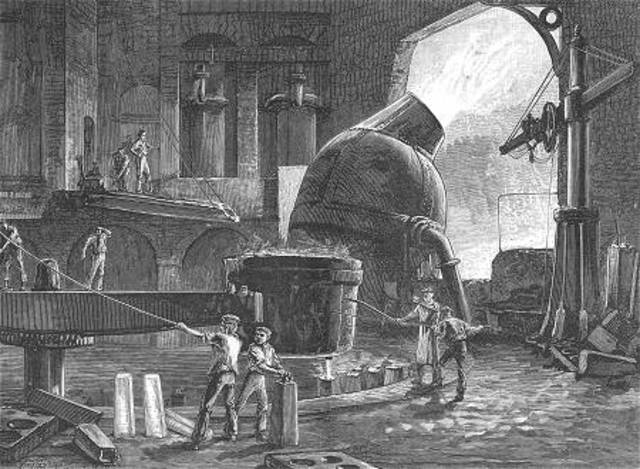 The Bessemer Method for processing steel is invented.