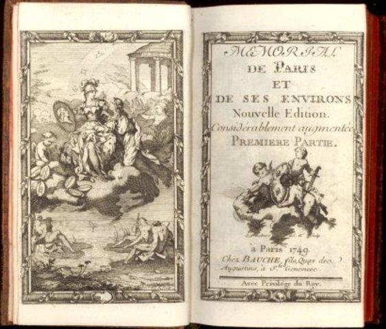 Raynal publie le Mémorial de Paris de l'abbé Antonini