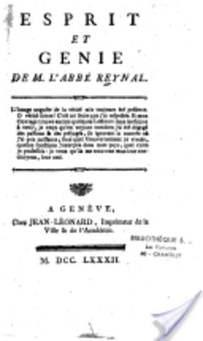 Esprit et génie de Guillaume-Thomas Raynal