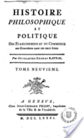 Précis de l'Histoire philosophique de Guillaume-Thomas Raynal