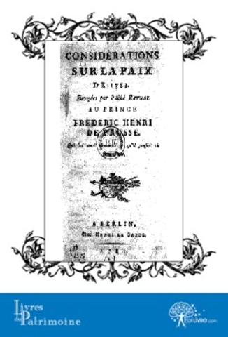 Considérations sur la paix en 1783