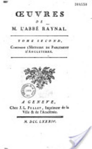 Œuvres de M. l'abbé Raynal
