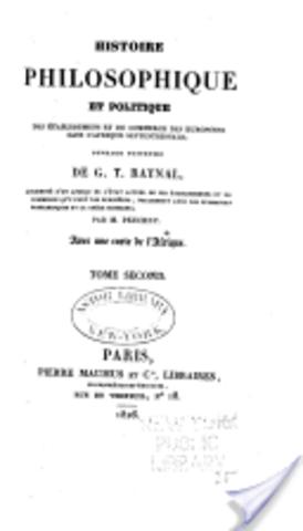 Histoire philosophique des Établissements dans l'Afrique septentrionale