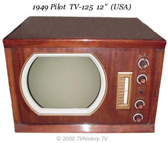 """1949 Pilot TV 125 12"""" (USA)"""