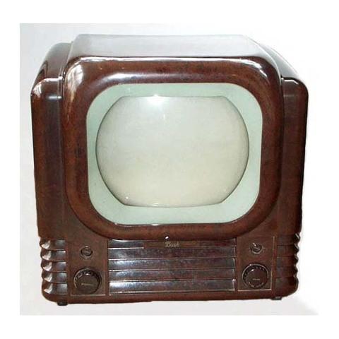 """1950 Bush Model TV22 9"""" British B&W TV"""